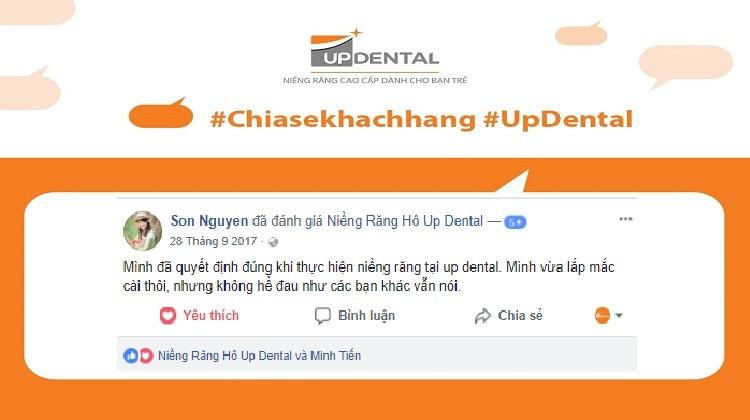 Review cảm nhận của khách hàng khi niềng răng tại Up Dental