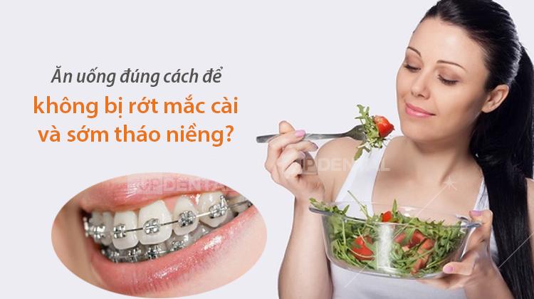 Kết quả hình ảnh cho ăn uống khi niềng răng