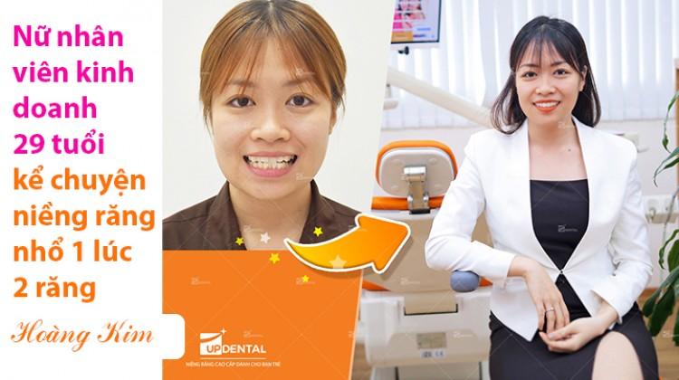 Nữ nhân viên kinh doanh 29 tuổi kể chuyện niềng răng nhổ 1 lúc 2 răng