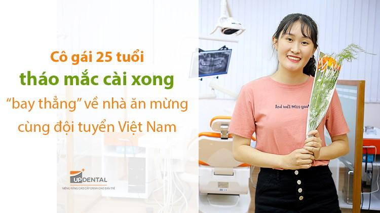 """Cô gái 25 tuổi tháo mắc cài xong """"bay thẳng"""" về nhà ăn mừng cùng đội tuyển Việt Nam"""