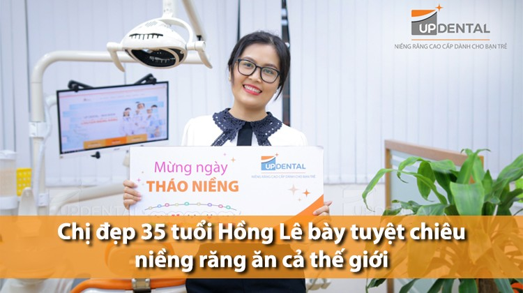 Chị đẹp 35 tuổi Hồng Lê bày tuyệt chiêu niềng răng ăn cả thế giới