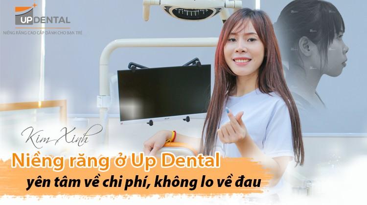 Niềng răng ở Up Dental yên tâm về chi phí, không lo về đau