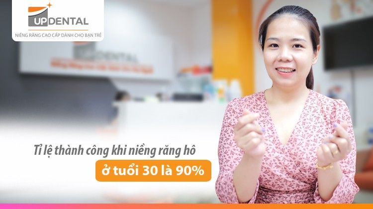 Tỉ lệ thành công khi niềng răng hô ở tuổi 30 là 90%