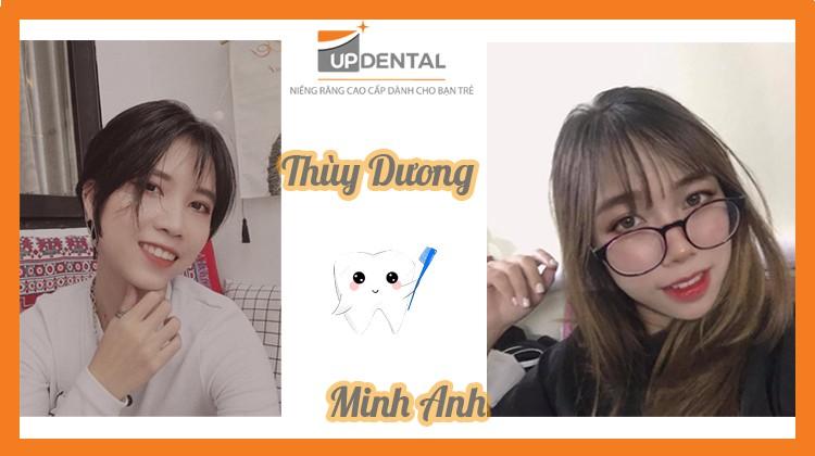 Kết quả sau 2 năm niềng răng của Thùy Dương và Minh Anh