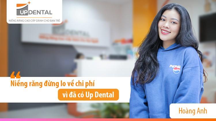 Niềng răng đừng lo về chi phí vì đã có Up Dental