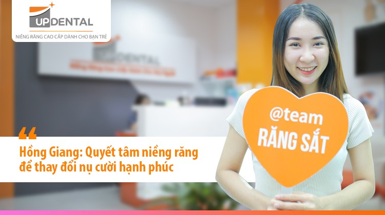 Hồng Giang: Quyết tâm niềng răng để thay đổi nụ cười hạnh phúc