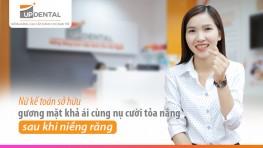 Nữ kế toán sở hữu gương mặt khả ái cùng nụ cười tỏa nắng sau khi niềng răng